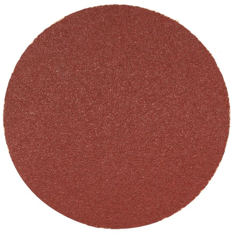 """5"""" 60 Grit Aluminum Oxide Rhynogrip Red Line Hook & Loop Sanding Disc , 50/Box"""