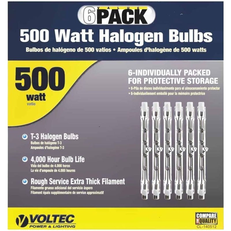 500W Halogen Replacement Light Bulb