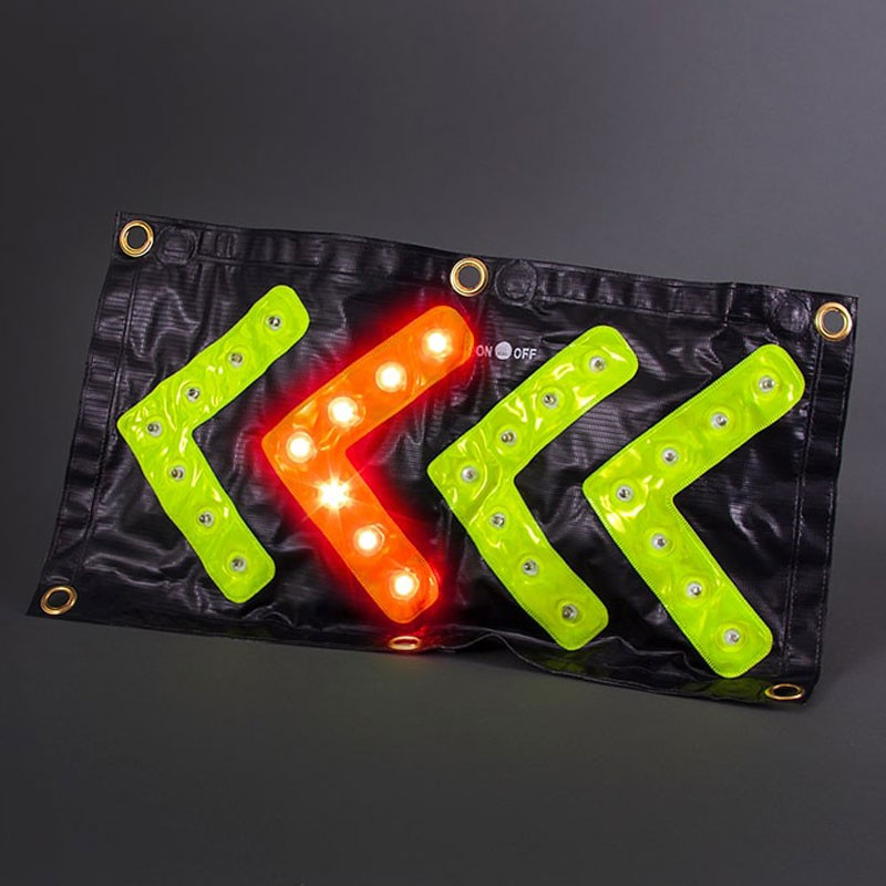 Magnetic LED Flashing Directional Arrow, (3) AAA Batteries