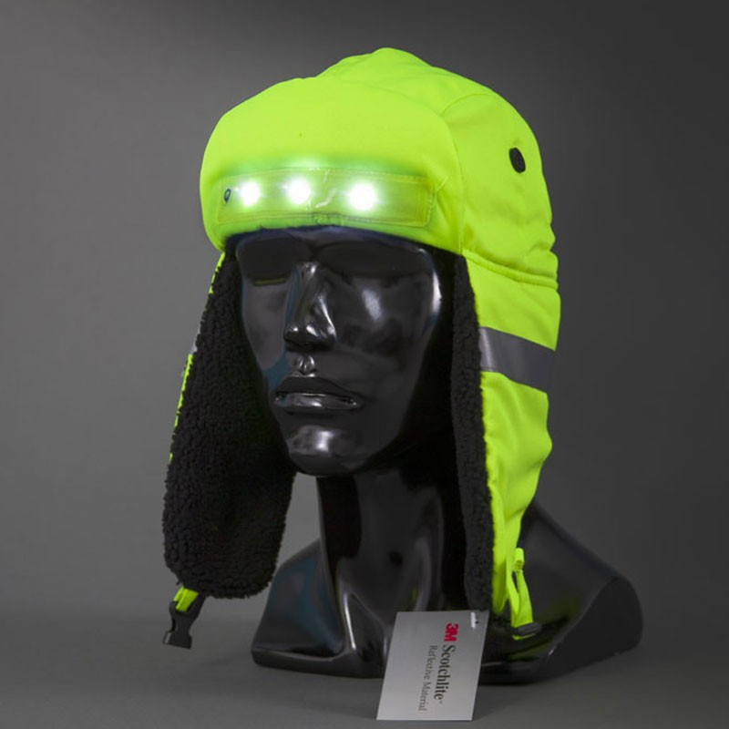 Hi-Vis LED Winter Hat, Rechargeable, Size Large
