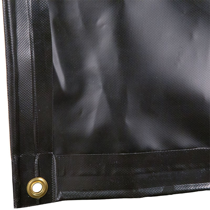 6' x 8' HD 18 Oz. Black Vinyl Dumpster Diaper Tarp