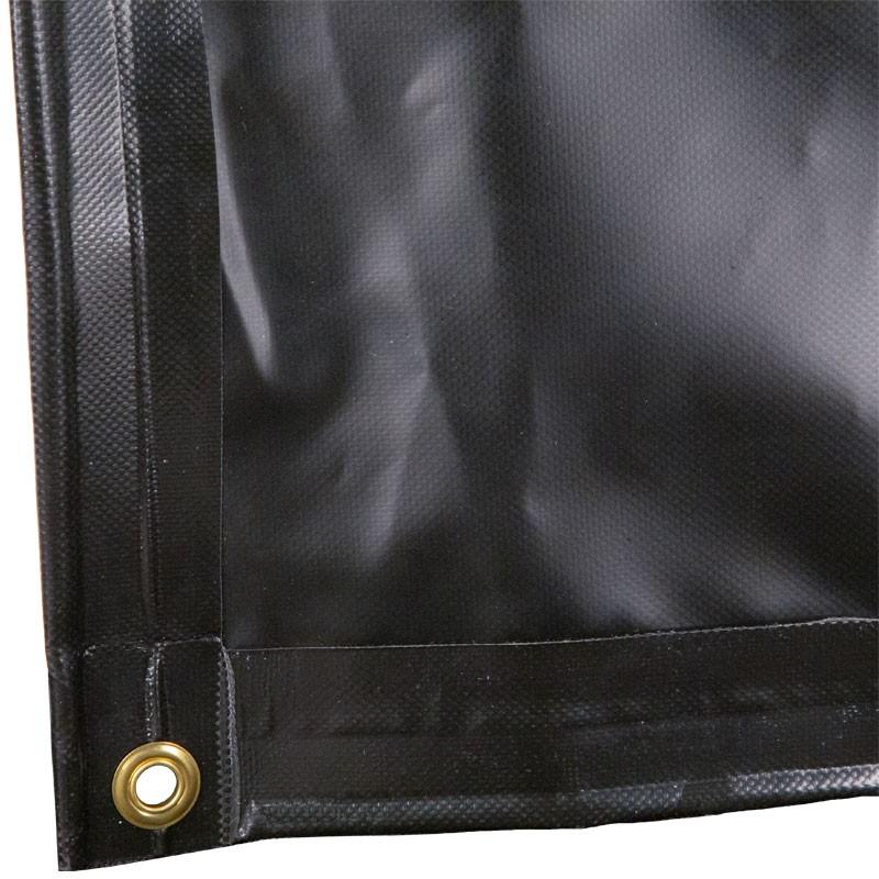 8' x 8' HD 18 Oz. Black Vinyl Dumpster Diaper Tarp