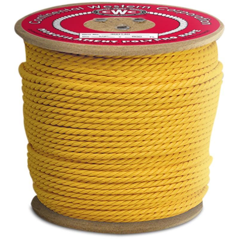 """1/2"""" x 600' Polypro Yellow 3-Strand Rope"""