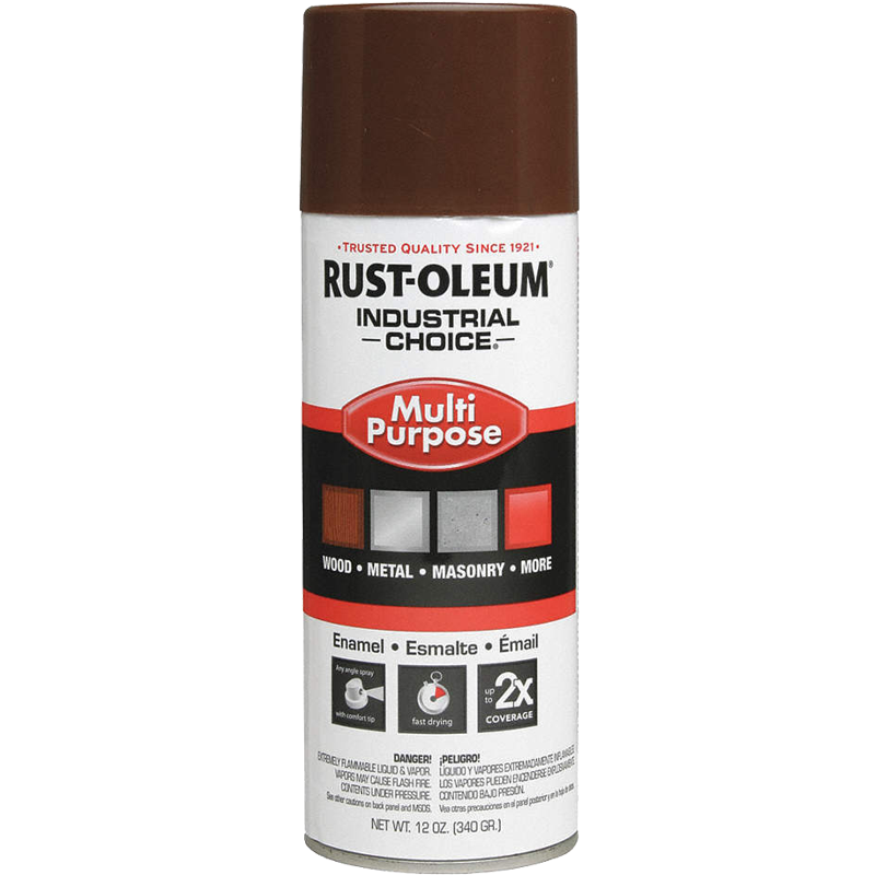 Rust-Oleum® Industrial Choice Spray Paint - Leather Brown, 12 oz.