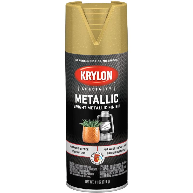 Krylon Metallic Enamel Spray Paint - Gold