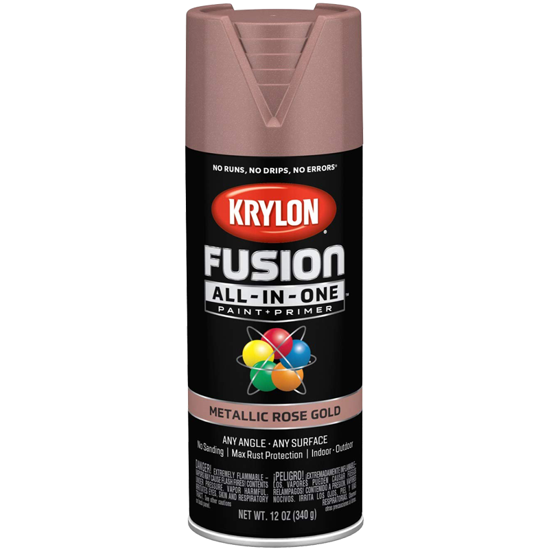 Fusion Metallic All-In-One Spray Paint - Rose Gold