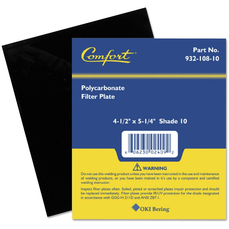 """4-1/2"""" x 5-1/4"""" Polycarbonate Filter Plate - Shade 10"""