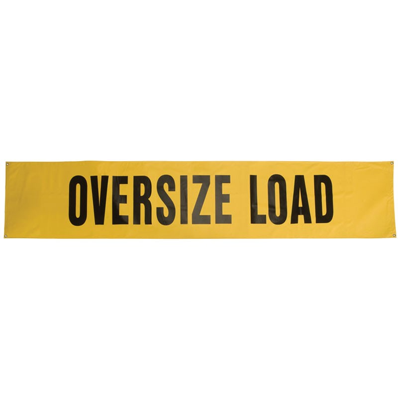 "18"" x 84"" Oversize Load Sign, Heavy-Duty Mesh"