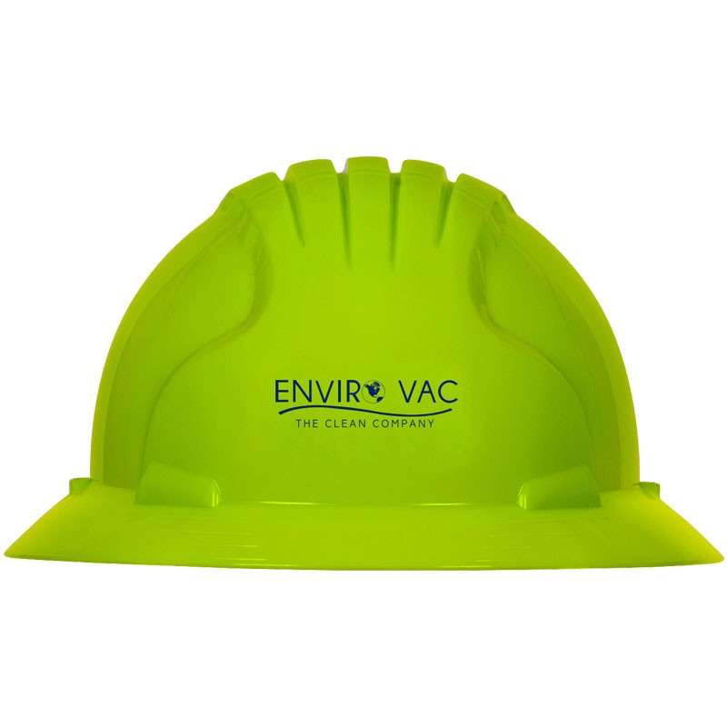 #6161 LIME YELLOW WHEEL RATCHET FULLBRIM W/ ENVIROVAC LOGO (1L - 1C)