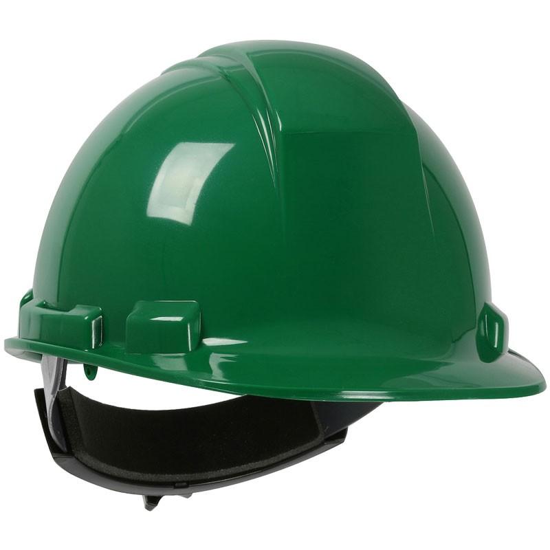 241 Hard Hat, 4-Point Wheel Ratchet Suspension, Green