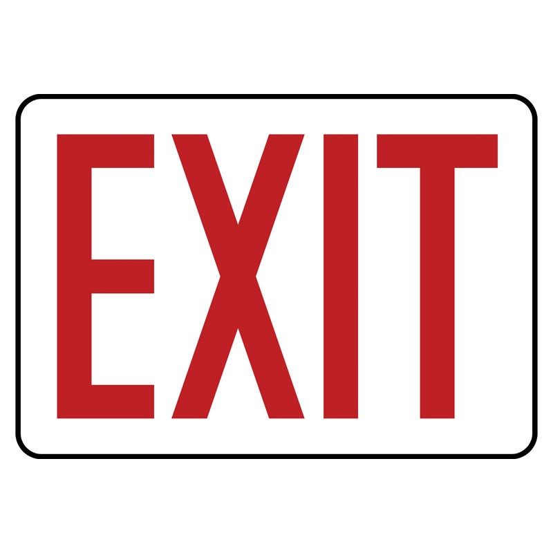 """7"""" x 10"""" Red Exit Sign"""