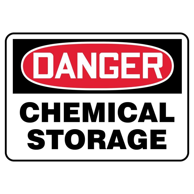 "7"" x 10"" Danger Chemical Storage Sign"