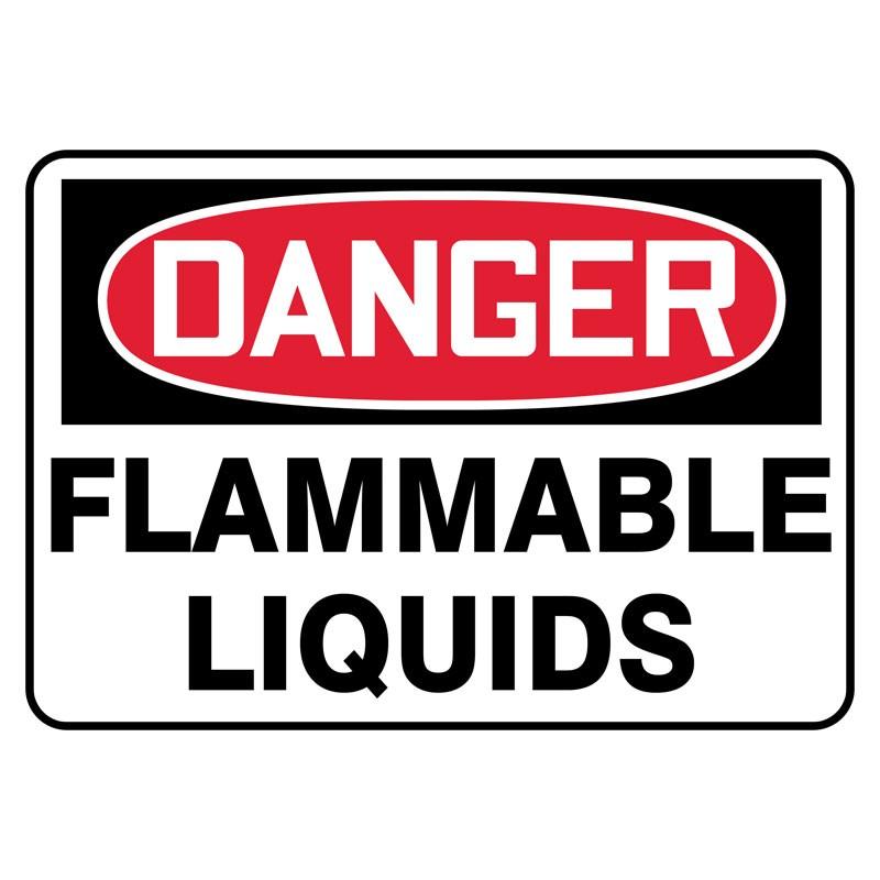 """7"""" x 10"""" Danger Flammable Liquids Sign"""