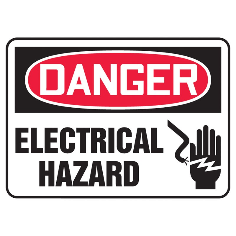 "7"" x 10"" Danger Electrical Hazard Sign"