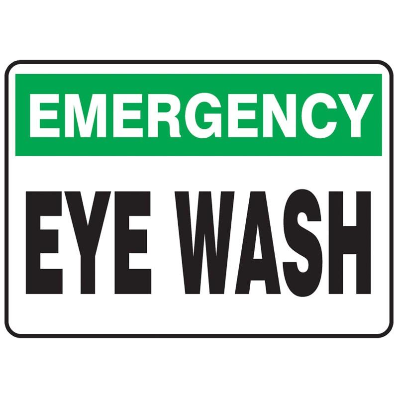 """7"""" x 10"""" Emergency Eye Wash Sign"""
