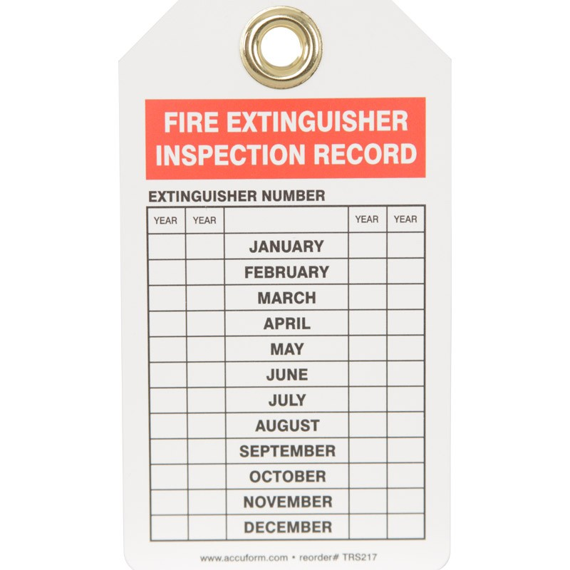 FIRE INSPECTION TAG - 5 PK | HUB Industrial Supply