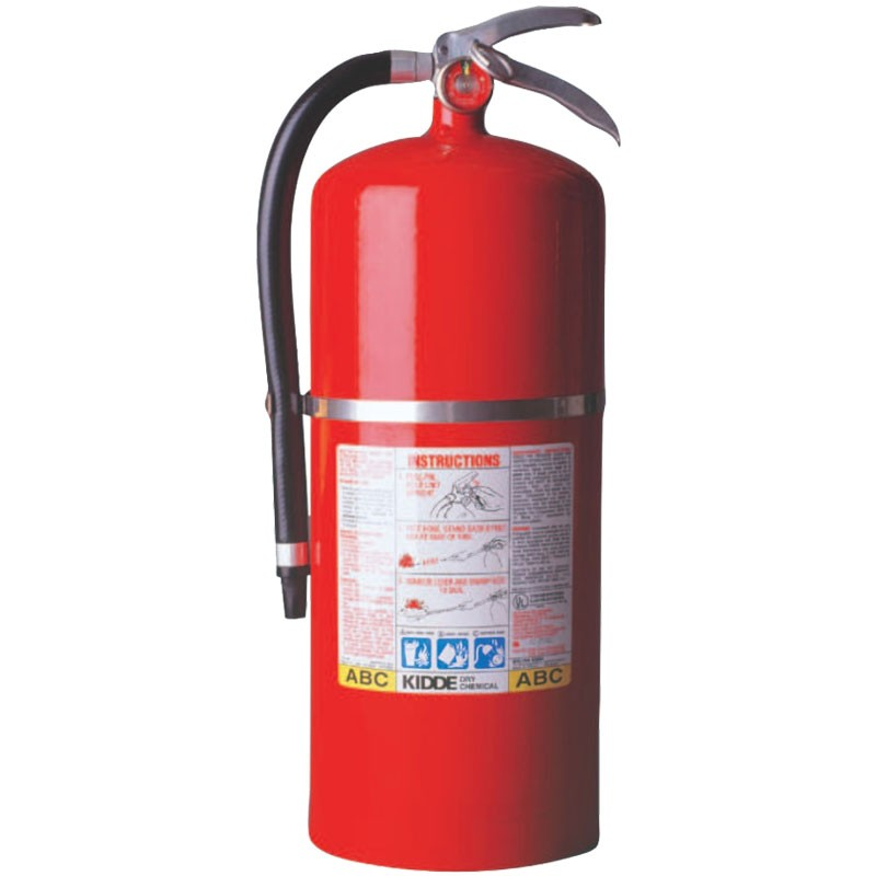 20 lb ABC Fire Extinguisher, Steel Body, Wall Hanger