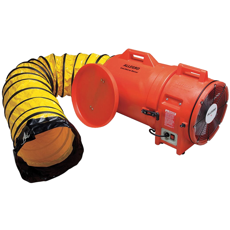 12? Axial AC Plastic Blower w/ Canister & Ducting