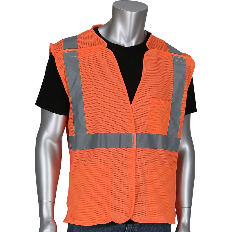 Class 2 5-Point Break-Away Vest, Orange, Small