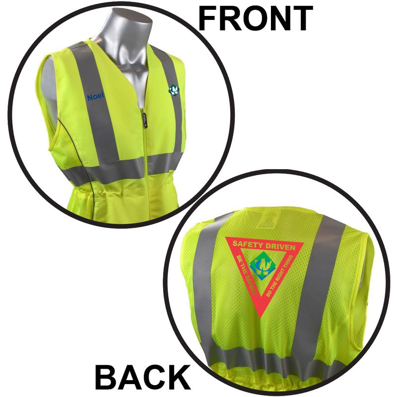 LG  CLS 2 WOMANS CONTOURED MESH VEST W/ ZIPPER CLOSURE  W/ WASTE CONNECTIONS - PALMETTO LOGO (3C - 2L)