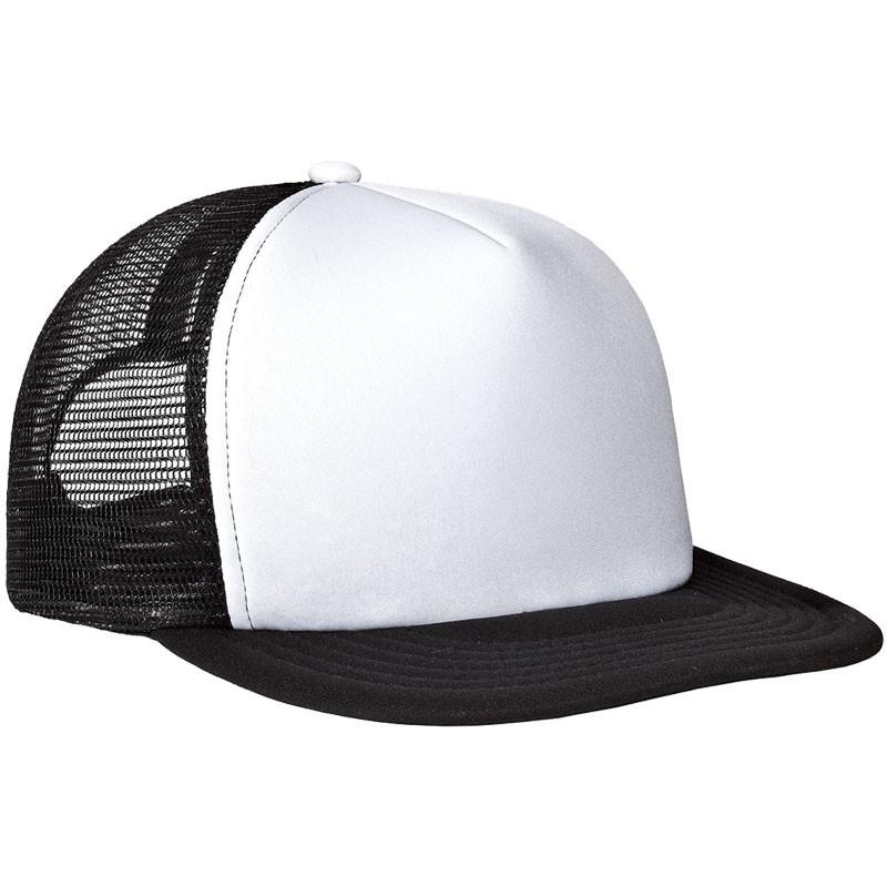 District ® White Flat Bill Snapback Trucker Cap