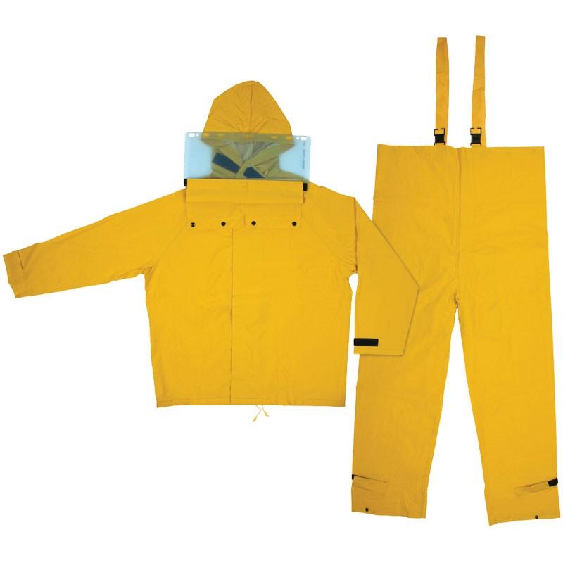 2X - Hydroblast, .35mm PVC/Polyester suit, Jacket w/attached hood, bib pants, yellow