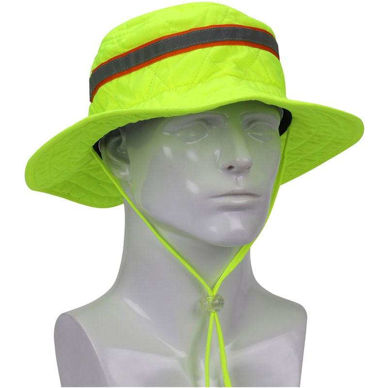 EZ COOL Evaporative Cooling Hi-Vis Ranger Hat, Small/Medium