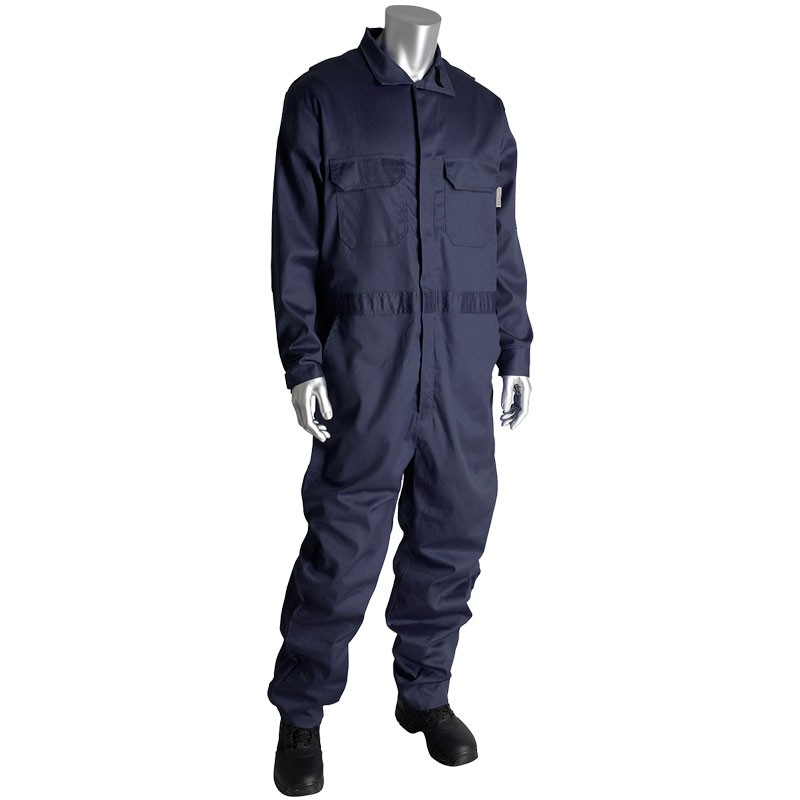 Large AR/FR Dual Certified Coverall with Zipper Closure - 9.2 Cal/cm2