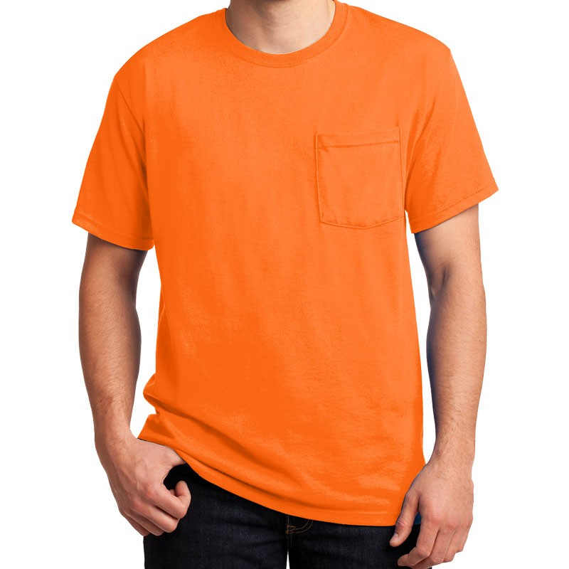 3-XL DRI-POWER® ACTIVE T-SHIRT - ORANGE W/ CHEST POCKET