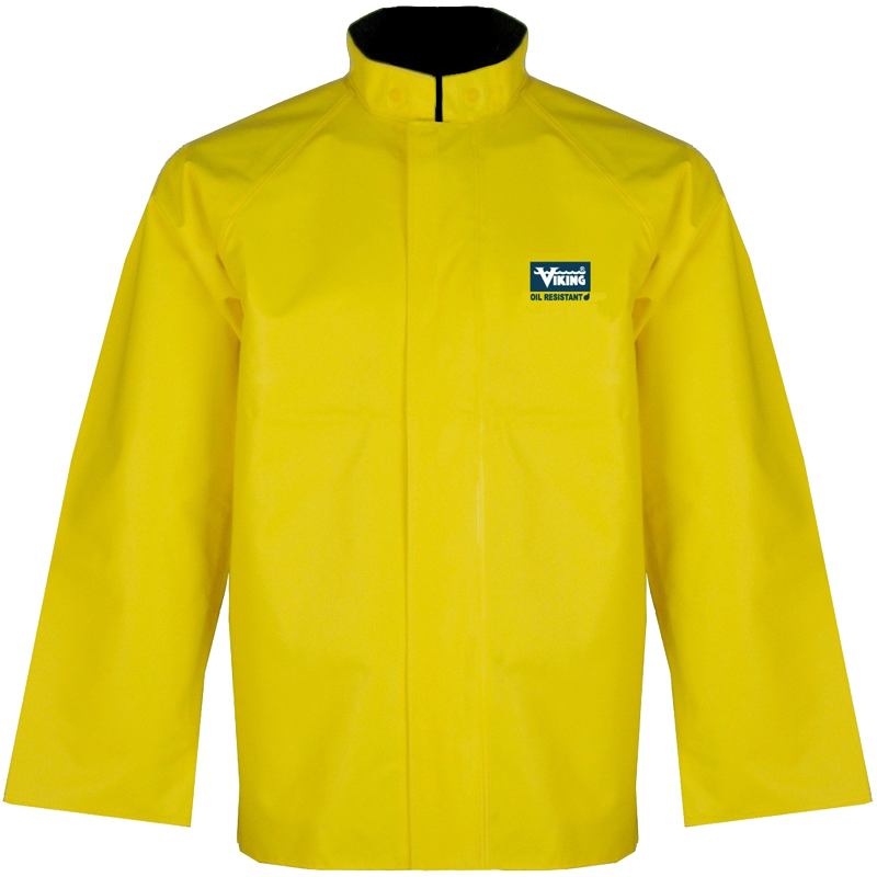 Large Yellow Journeymen Heavy Duty .45 Mil PVC/Polyester Rain Jacket