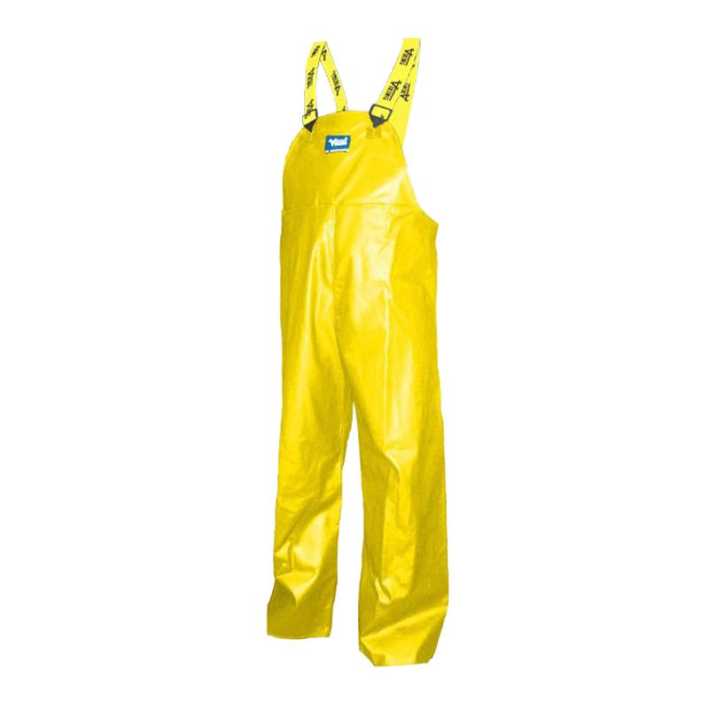 Large Yellow Journeymen Heavy Duty .45 Mil PVC/Polyester Bib Pant