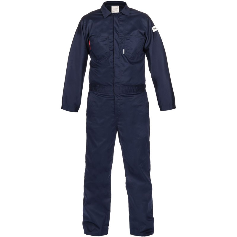 7 oz. Navy 100% FR Cotton Coverall - Lightweight, Dual-Certified, 3-XL