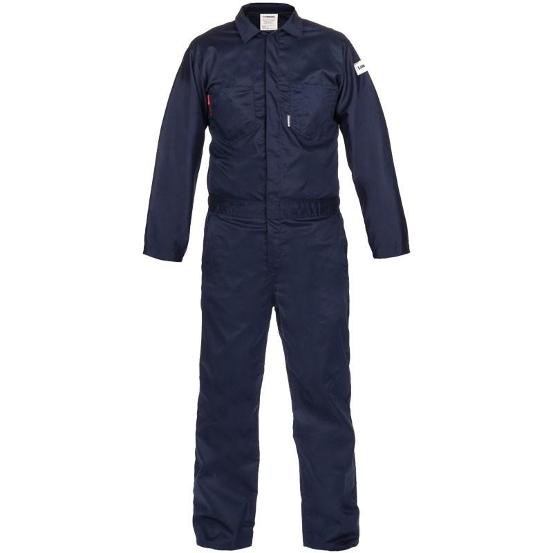 7 oz. Navy 100% FR Cotton Coverall - Lightweight, Dual-Certified, 5-XL