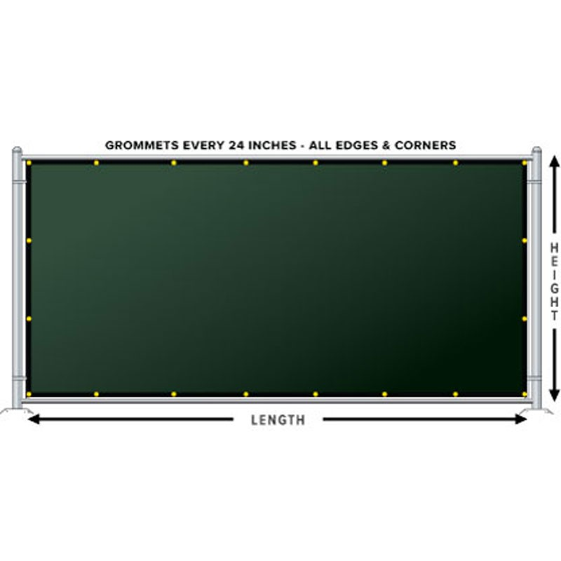 200-Series Fence Screen, 88% Block, 4' x 50' - Forest Green