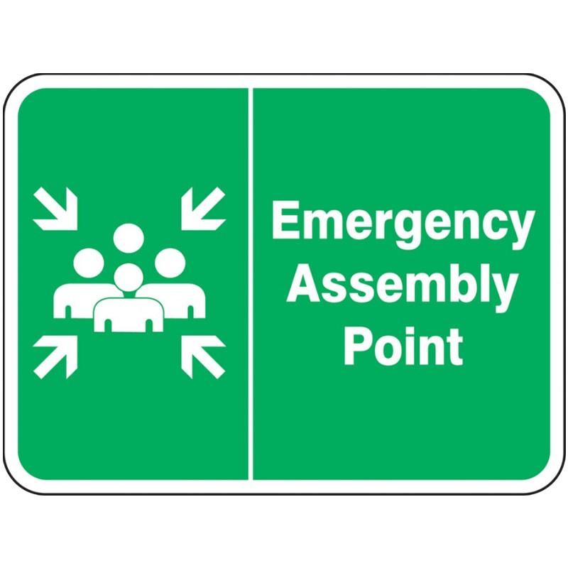 "18"" x 24"" Emergencey Assembley Point Aluminum Sign"