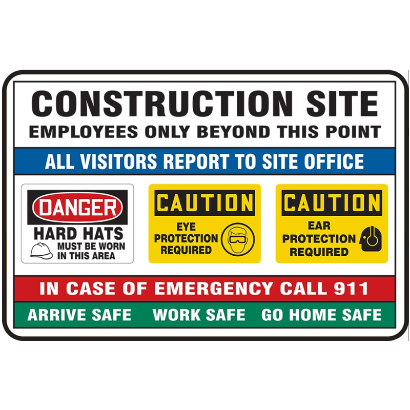 "36"" x 48"" Construction Site Aluminum Sign"
