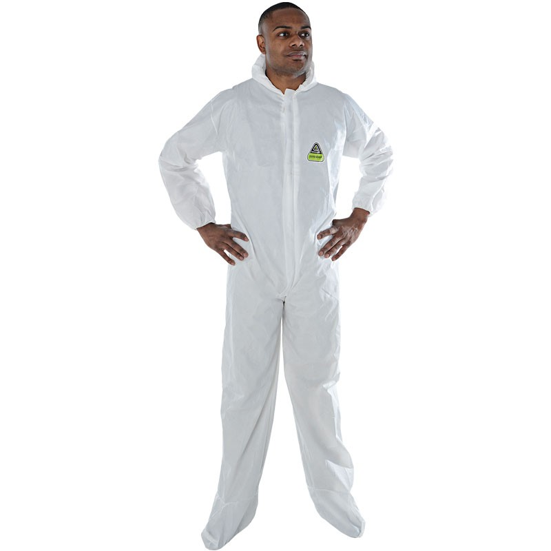 Defender II™ Microporous Coveralls with Hood & Boots, Elastic Wrists & Ankles, X-Large