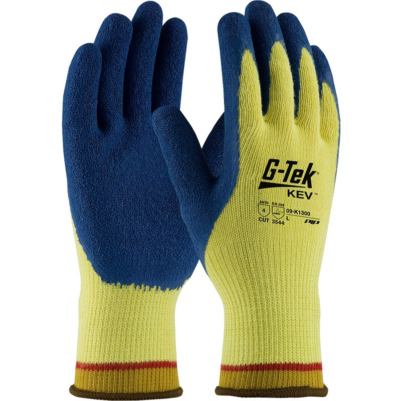 Kevlar® Knit Latex Rubber Coated Cut-Resistant Gloves, Large