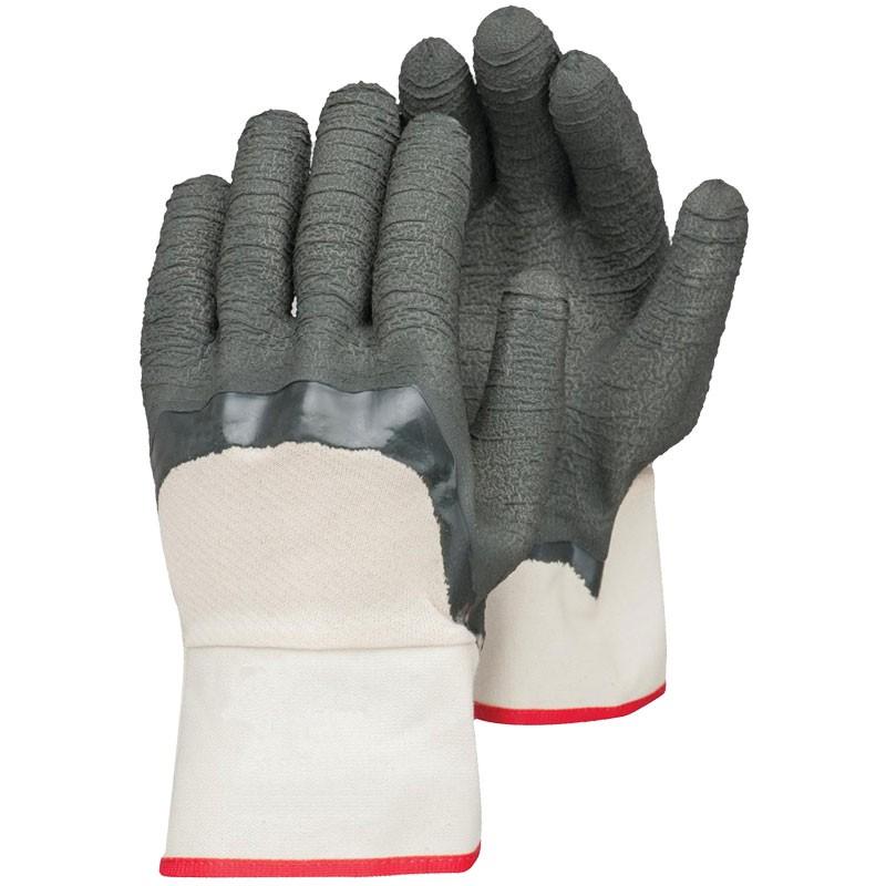 Jersey Work Glove, Latex Coated Palm w/ Nitrile Overdip, Universal Size