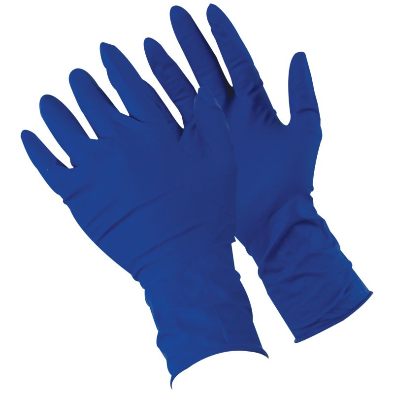 """13 Mil Disposable Latex Glove, 12"""" Length, Powdered, Textured Grip, Small"""