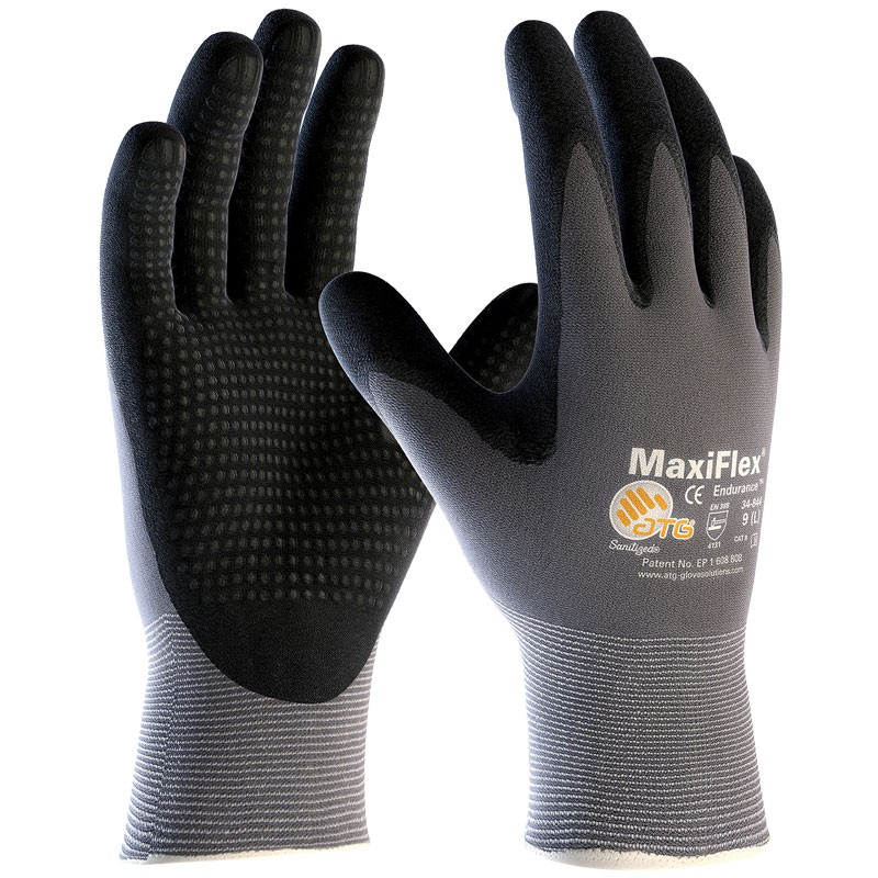 MaxiFlex® Nylon Glove, Dotted Nitrile MicroFoam Grip, Large