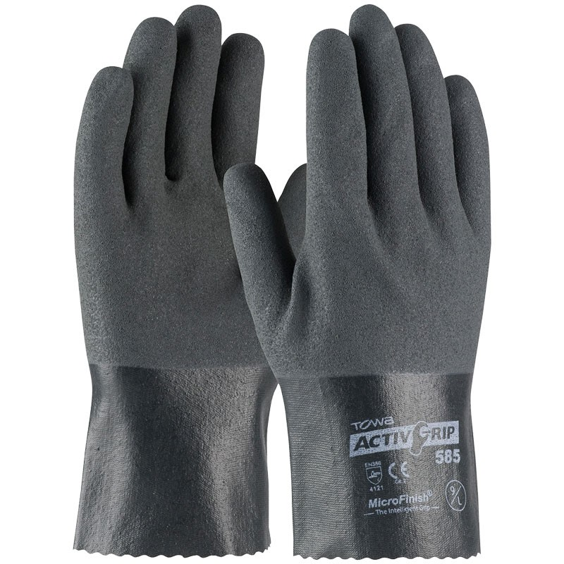 "ActivGrip™ 10"" Nylon Glove, Fully Dipped, Nitrile MicroSurface Grip, Large"