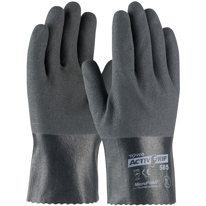 "ActivGrip™ 10"" Nylon Glove, Fully Dipped, Nitrile MicroSurface Grip, Medium"