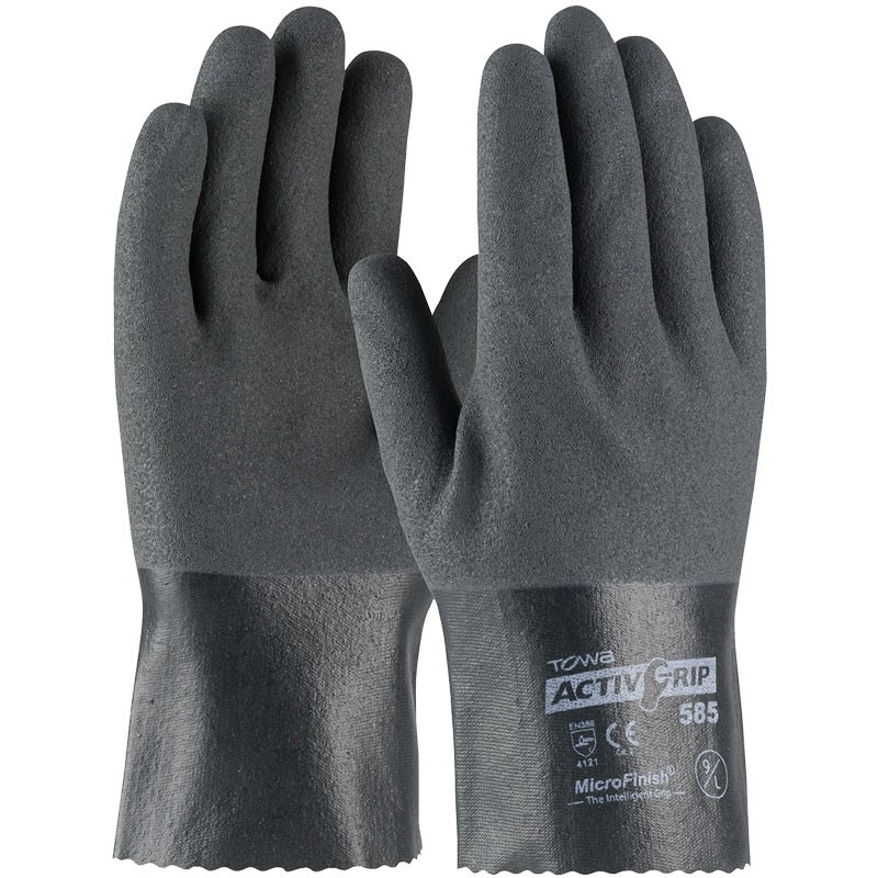 """ActivGrip™ 10"""" Nylon Glove, Fully Dipped, Nitrile MicroSurface Grip, Small"""
