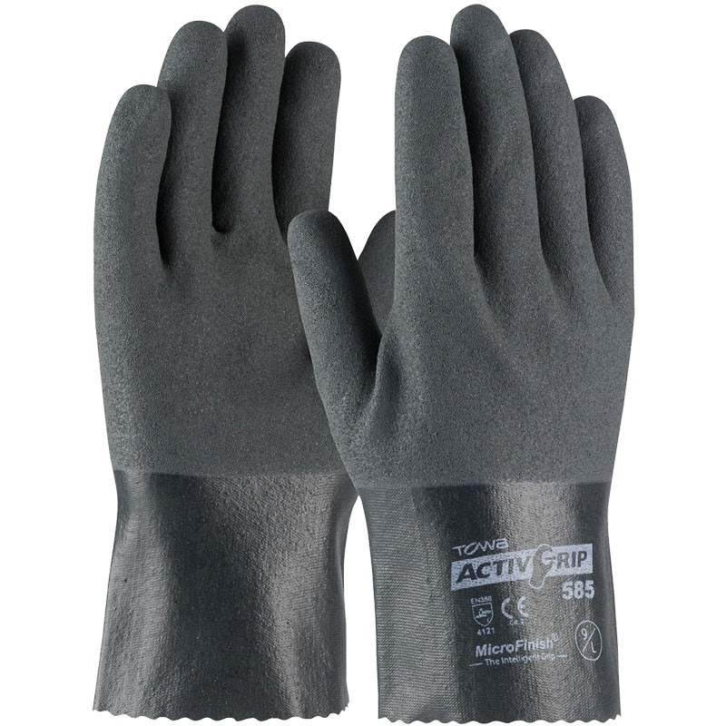 """ActivGrip™ 10"""" Nylon Glove, Fully Dipped, Nitrile MicroSurface Grip, X-Large"""