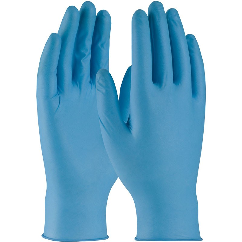 8 Mil Disposable Nitrile Gloves, Powder Free, Textured Grip, X-Large