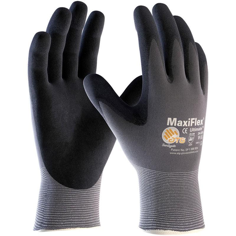 MaxiFlex® Nylon Glove, Nitrile MicroFoam Grip, Large