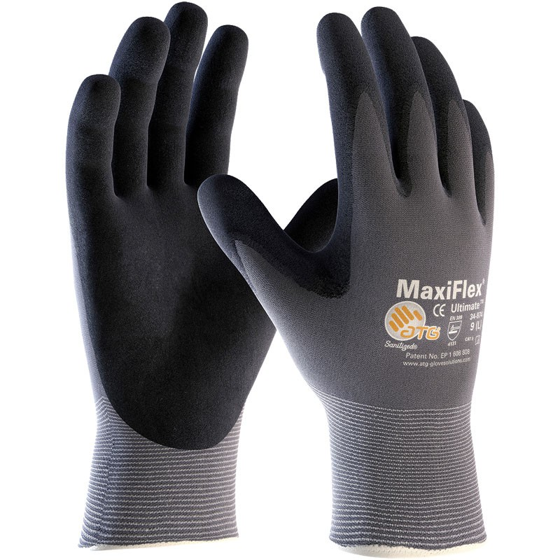 MaxiFlex® Nylon Glove, Nitrile MicroFoam Grip, Medium