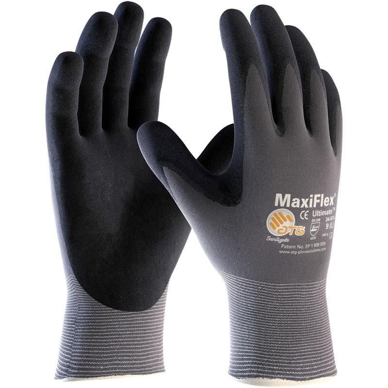 MaxiFlex® Nylon Glove, Nitrile MicroFoam Grip, X-Large