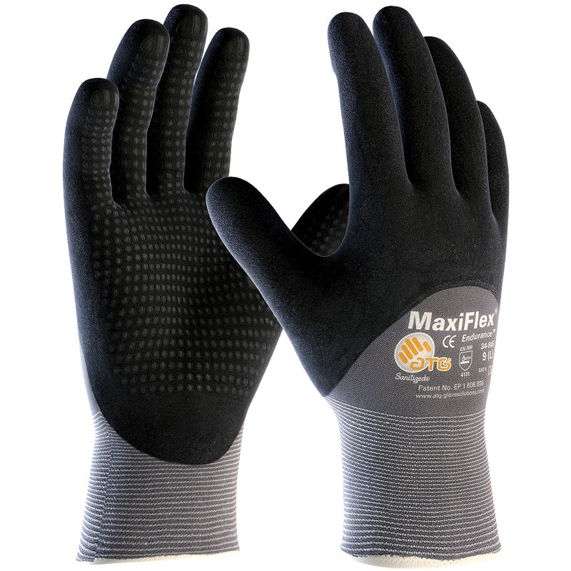 MaxiFlex® Nylon Glove, 3/4 Coverage Dotted Nitrile MicroFoam Grip, X-Large